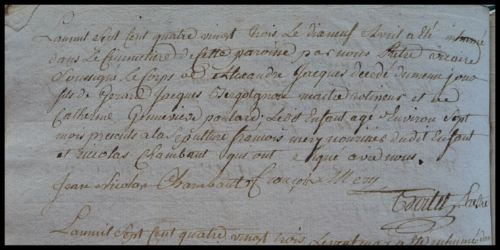 BERGOTGNON Alexandre Jacques dcd 19.04.1783