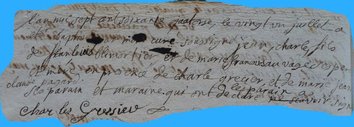 BLEMORTIER Charles né 21.07.1774