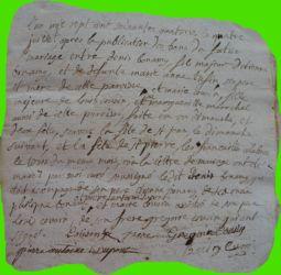 BONNAMY et COUSIN le 04.07.1774