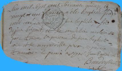 BRIGAULT Jean-Baptiste né 21.02.1775