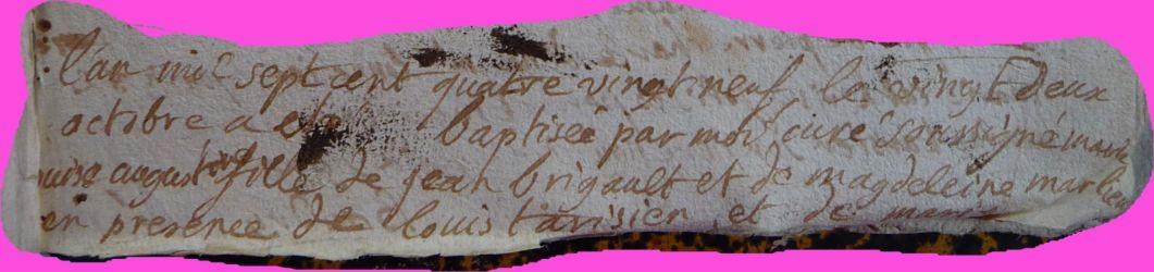 BRIGAULT Marie-Louise Augustine née 22.10.1789