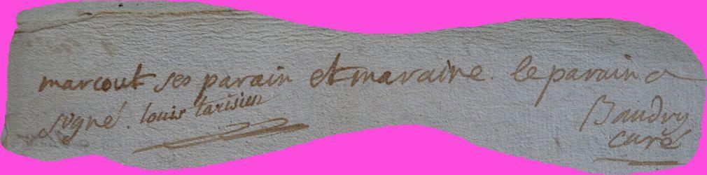 BRIGAULT Marie-Louise Augustine née 22.10.1789N°2