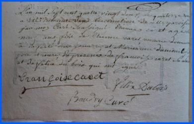 CARET Etienne né 14.05.1782