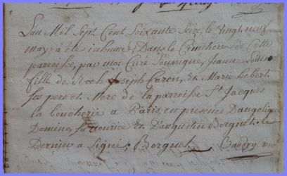 CARON Jeanne Louise bébé dcd 29.05.1776