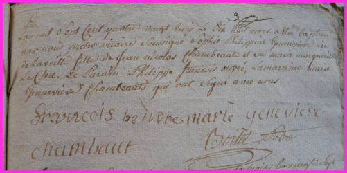 CHAMBAULT Sophie Philippine Geneviève née 18.03.1783