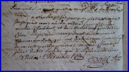 CHAMBAUT Rémy né 17.03.1786