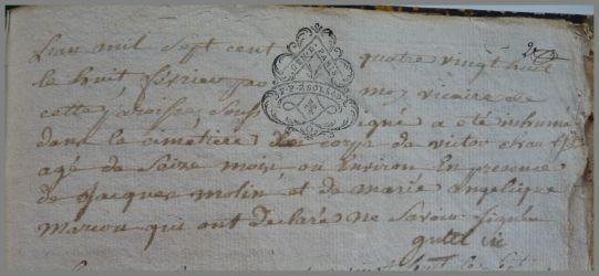 CHAUSSE Victor dcd 08.02.1788