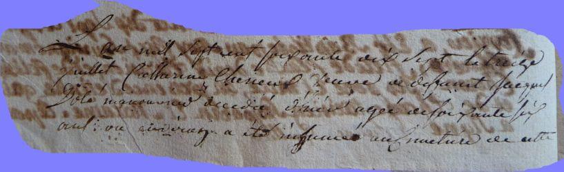 CHENUT Marie-Catherine 1710-dcd 13.07.1777