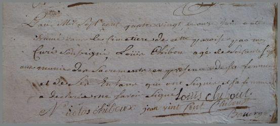 CHIBOUST Louis dcd 11.06.1780