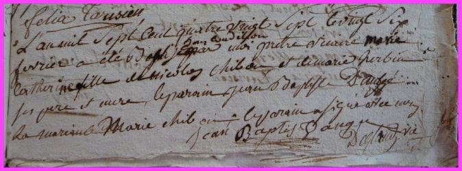 CHIBOUST Marie-Catherine née 26.02.1787