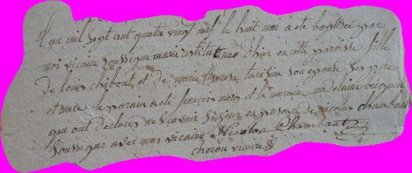 CHIBOUST Marie-Restitude née 07.05.1789
