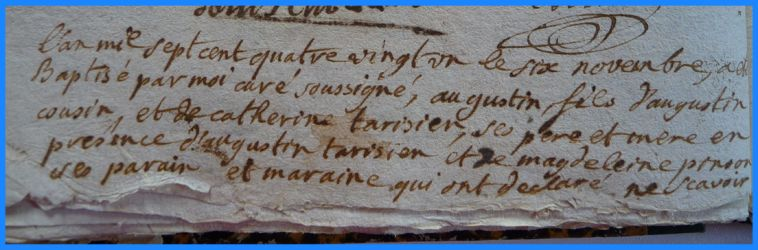 COUSIN Augustin né 06.11.1781