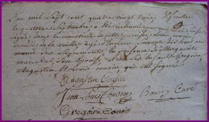 COUSIN Louis 78 ans dcd 14.09.1783