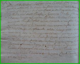 COUSIN et TARISIEN le 25.11.1776