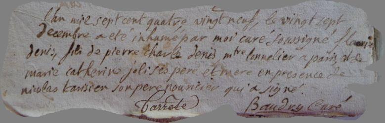 DE NIS François dcd 27.12.1789 en nourrice