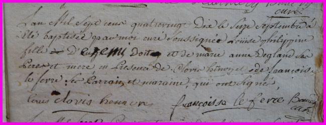 DOIT Louise Philippine née 16.09.1790