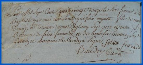 DOUAY Félix Auguste née 06.02.1792
