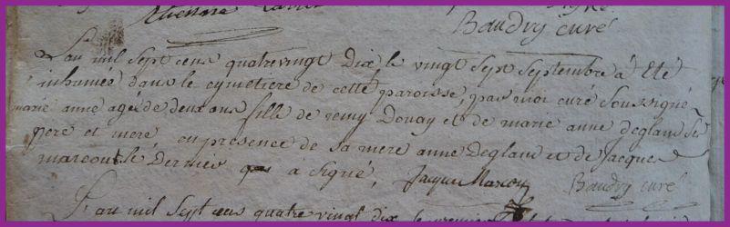DOUAY Marie-Anne 2 ans dcd 27.09.1790
