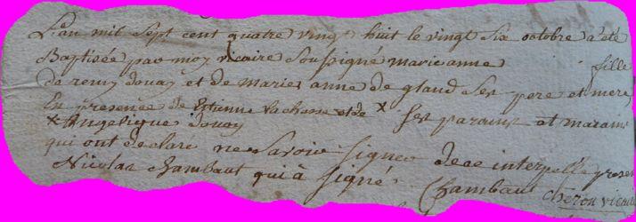 DOUAY Marie-Anne née 06.10.1788