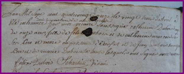 DUBOIS Catherine 11 ans dcd 23.04.1791