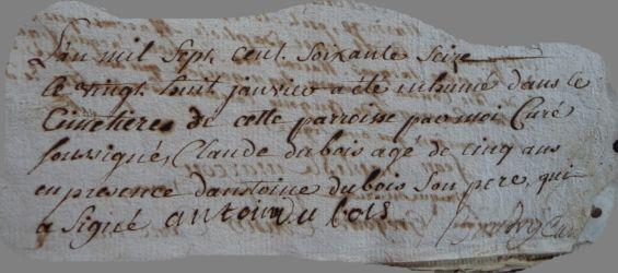 DUBOIS Claude 1770-dcd 28.01.1776