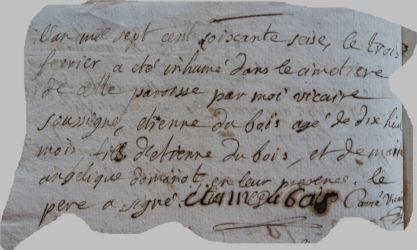 DUBOIS Etienne 1774-dcd 03.02.1776