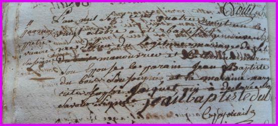 DUBOIS Geneviève Sophie née le 20.10.1781
