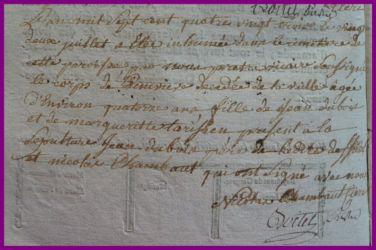 DUBOIS Geneviève dcd 22.07.1783