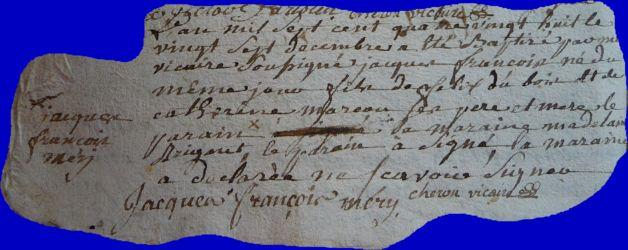 DUBOIS Jacques François né 27.12.1788