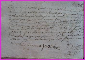 DUBOIS Marie-Agnès née 18.08.1782