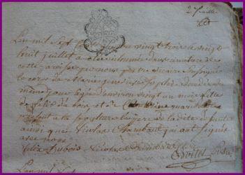 DUBOIS Marie-Geneviève Sophie dcd 28.07.1783