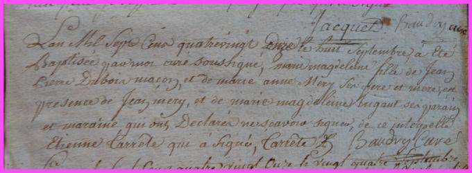 DUBOIS Marie-Magdelaine née 08.09.1791