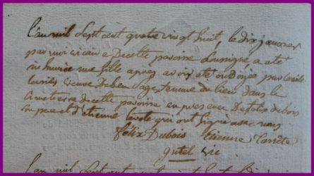 DUBOIS Mort-né le 10.01.1788