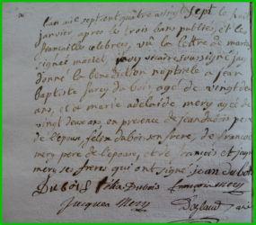 DUBOIS et MERY le 08.01.1787