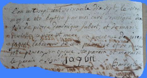 FABERT Denis né 20.05.1777
