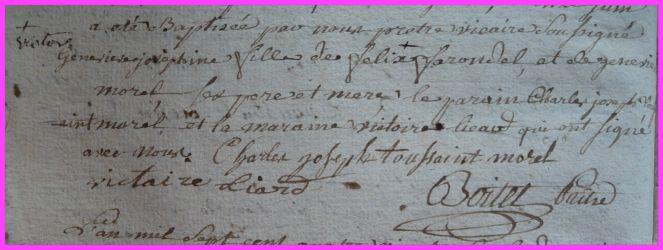 FARONDEL Geneviiève Joséphine née 11.06.1786
