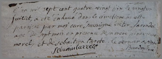 FARONDEL Victor 7ms dcd 21.07.1790