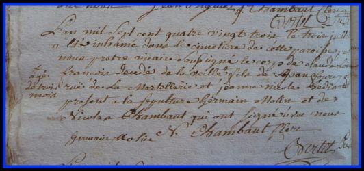 FOUREY Claude Louis dcd 3 mois le 03.07.1783