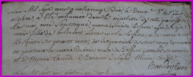LEFEVRE Marie-Louise 7 ms dcd 02.10.1790
