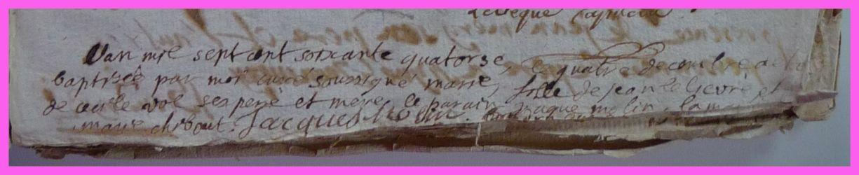 LELIEVRE Marie née 04.04.1774