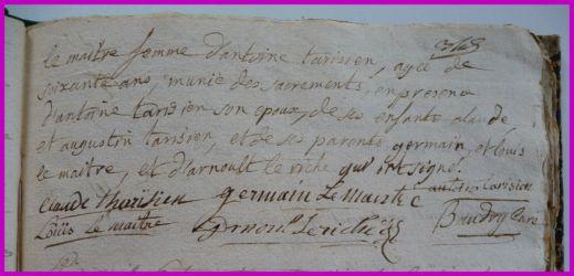 LEMAISTRE Geneviève dcd 09.04.1780 N°2