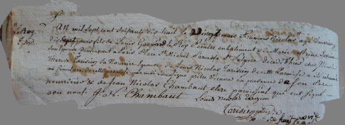 LEROY François Nicolas en nourrice dcd 19.03.1778