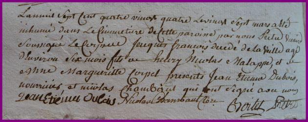 MALAPPE Jacques François dcd 27.03.1784