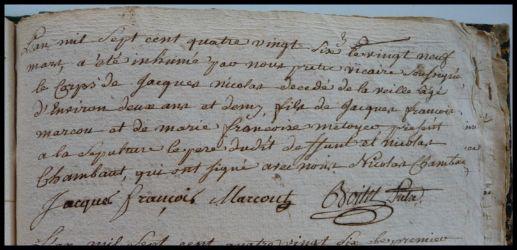 MARCOU Jacques Nicolas 2 ans dcd 29.03.1786