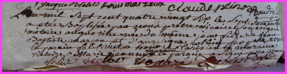 MARCOU Victoire Augustine née 07.12.1786