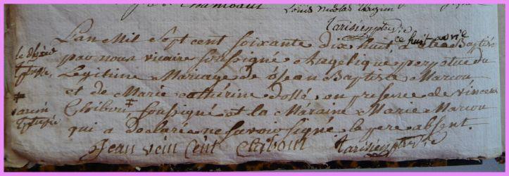 MARCOUT Angélique née 08.04.1778