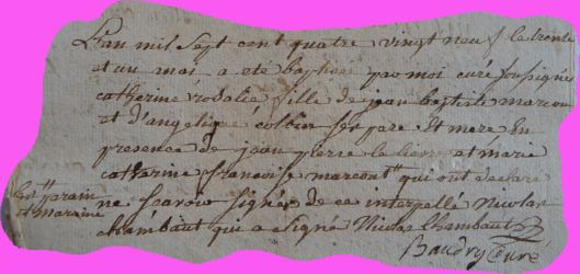 MARCOUT Catherine Rosalie née 31.05.1789