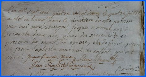 MARCOUT Jacques 62 ans dcd 04.07.1782