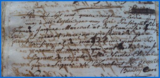 MARCOUT Jacques Jean François né 10.05.1781