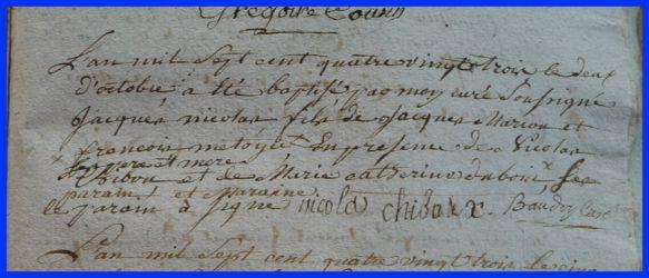 MARCOUT Jacques Nicolas né 02.10.1783